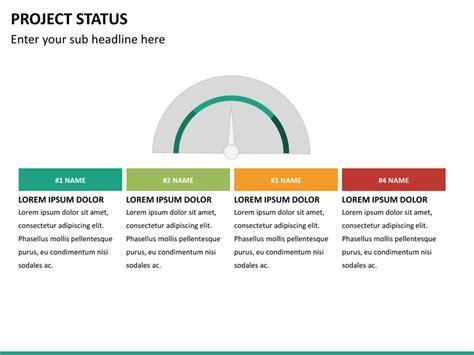 Project Status PowerPoint Template   SketchBubble