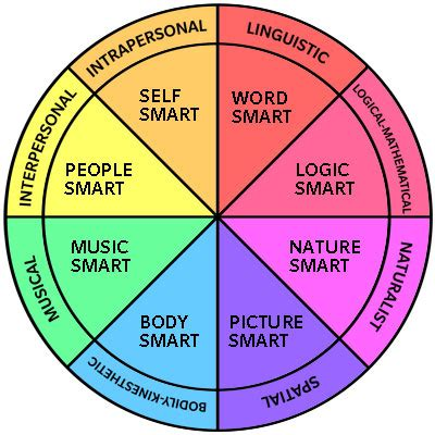 Howard Gardners Theory Of Intelligences Essay by B What Is My Learning Style Different Types Of Circles And Style