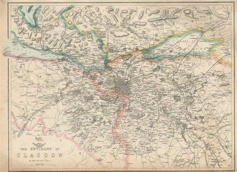 map of paisley glasgow environs paisley dumbarton airdrie scotland