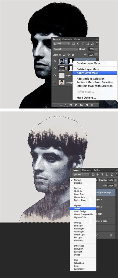digital double exposure tutorial make a trendy double exposure effect in adobe photoshop