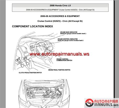 car repair manuals online pdf 2008 honda civic transmission control honda civic hybrid 2006 2008 service manual auto repair manual forum heavy equipment forums