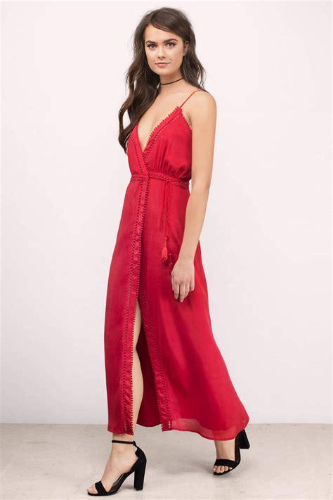 crimson color dress crimson midi dress dress surplice dress crimson