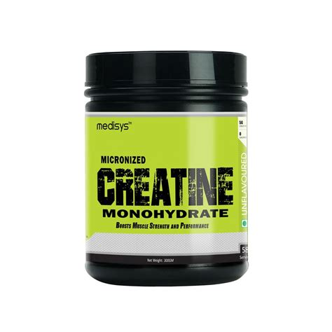 6 creatine monohydrate medisys creatine monohydrate 300 gm in india best