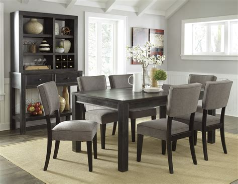 grey wood dining set gavelston urbanology black gray wood 7pc dining room set