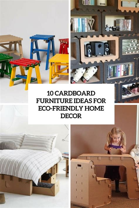 eco friendly home decor 10 cardboard furniture ideas for eco friendly d 233 cor digsdigs