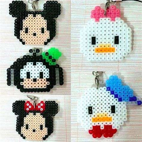 Hama Tsum Mickey Keychain 33 best images about tsum tsum perler on