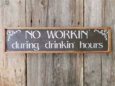 Wood Decor Signs by Wood Signs Bar Sign Western Wall Decor Humorous