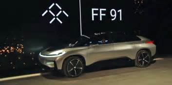 Electric Car Company Faraday Future Unveils Electric Car For Production At Ces
