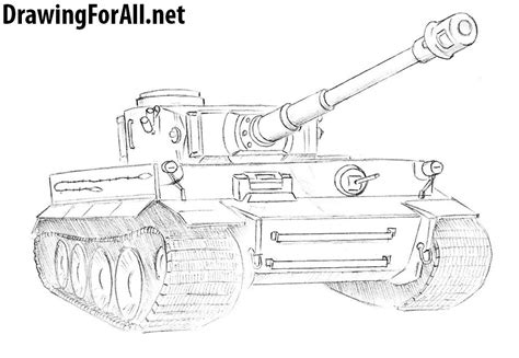 how to draw a tiger tank drawingforall net