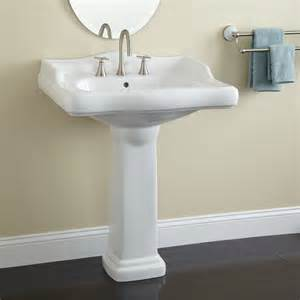 Pedestal Kitchen Sink Signature Hardware Large Dawes Porcelain Pedestal Sink Ebay