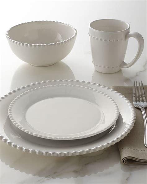 white beaded dinnerware 16 beaded edge dinnerware white