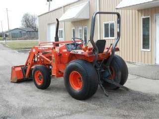 kubota l2550 4x4 quick attach qt loader tractor farm glide