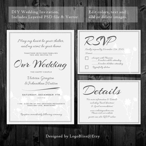 Rsvp Card Template Photoshop by 20 Best Invitations Save The Dates Images On