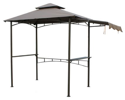 grill with awning
