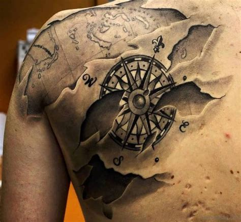 compass tattoo back shoulder 50 amazing compass tattoos on shoulder