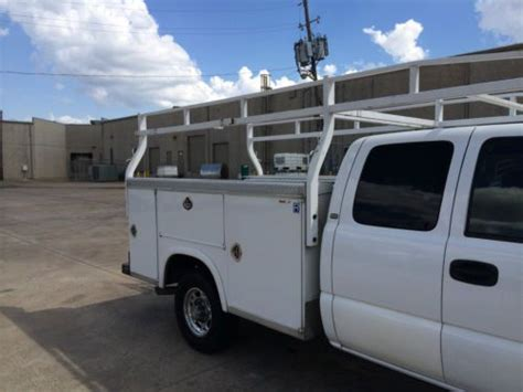 Utility Bed Ladder Rack by Buy Used Silverado Classic Hd White 8 Foot Utility Bed