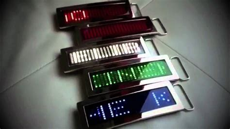 light up belt led scrolling message light up belt buckle