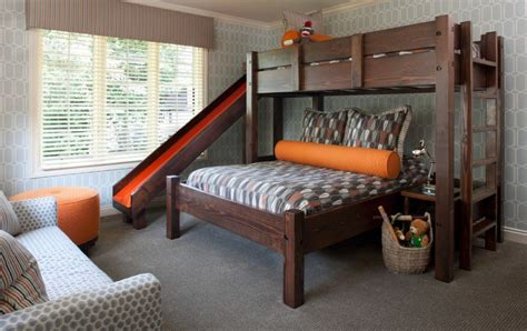 Turn The House Into A Playground Fun Slides Designed For Side By Side Bunk Beds