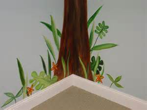 surfaces with paint jungle themed murals