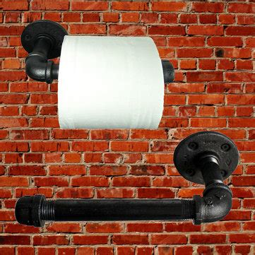 industrial pipeline vintage paper towel rack bathroom wall mount toilet paper holder sale