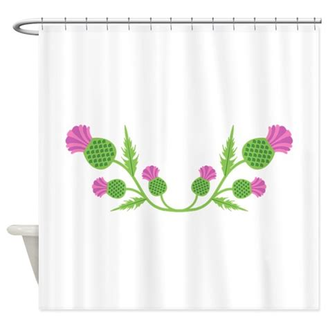 thistle shower curtain scottish thistle shower curtain by hopscotch17