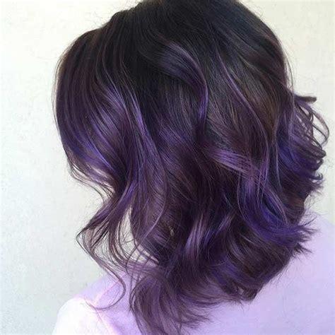 hairstyles purple highlights best 25 dark purple highlights ideas on pinterest dark