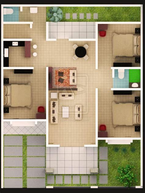 contoh denah rumah minimalis modern yang elegan renovasi rumah net