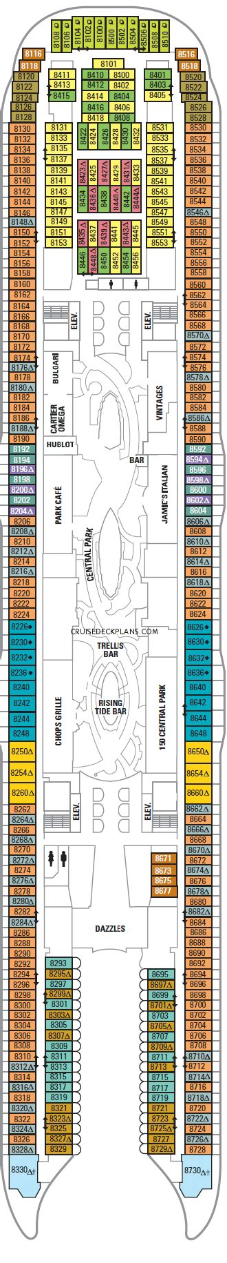 Carnival Sensation Floor Plan by Harmony Of The Seas Owners Suite Category