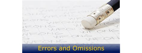 Errors And Omissions what small business owners need to about errors