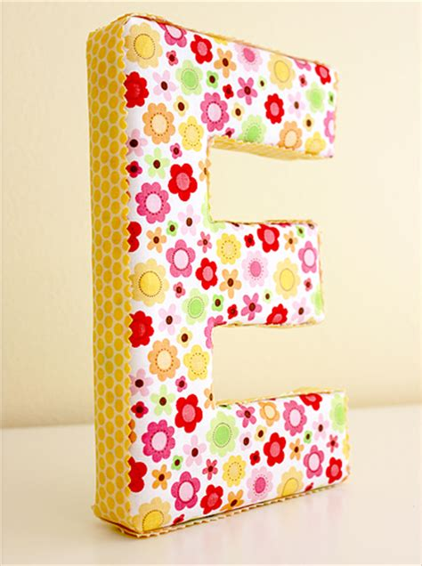 Fabric Covered Letters by Craftionary