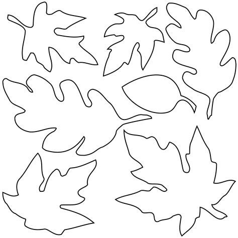 template leaves fall leaves templates printable free