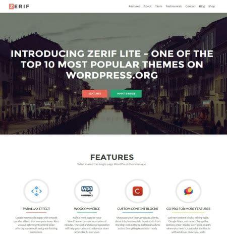free wordpress themes zerif lite 40 best free responsive wordpress themes for 2017