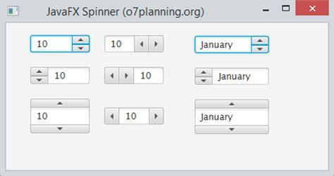 javafx spinner tutorial