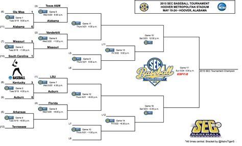 section 6 baseball playoff schedule sec baseball tournament brackets