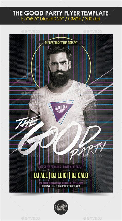 Flyer Template Psd The Good Party Heroturko Download Flyer Template Rar
