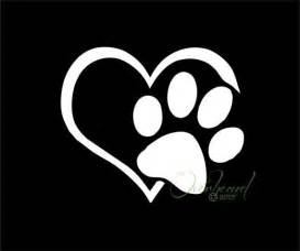 paw with heart i love my dog pet window vinyl car decal