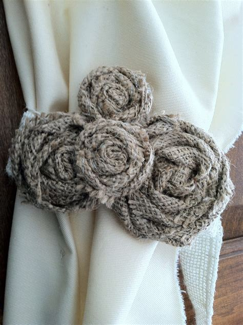 burlap curtain tie backs burlap curtain tie back pair varying by redesignaccessories