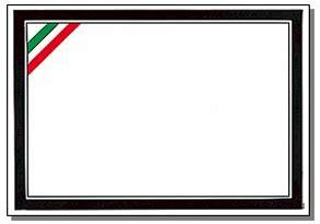 cornice tricolore cartotecnica