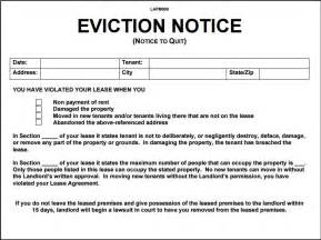 free eviction notice template 10 eviction notice template exles templates assistant