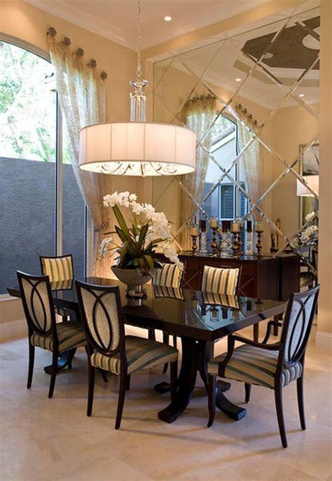 mirrored walls   elegant dining room dining room