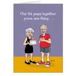 44th anniversary cards zazzle