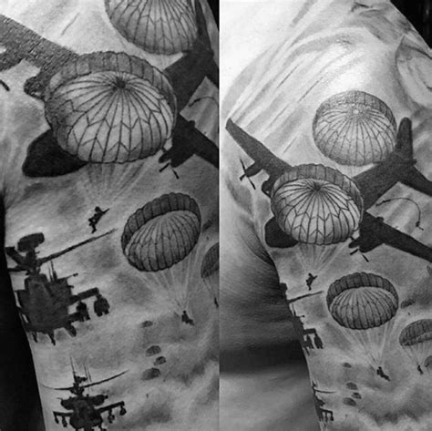 parachute tattoo designs 30 parachute designs for sky diving ink ideas