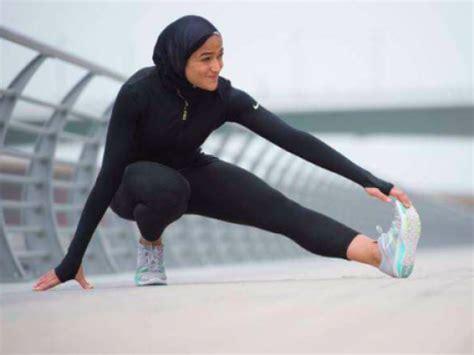nike features  egyptian muslim model  hijab egypt