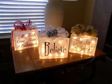 christmas ideas for glass blocks 1000 ideas about lighted glass blocks on glass blocks glass block crafts and