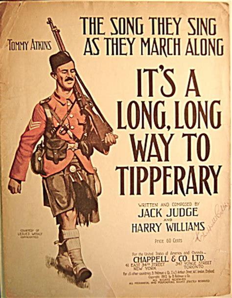 "wwi sheet music ""it's a long, long way to tipperary"