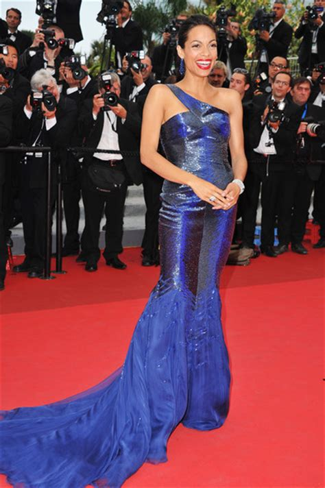 Runway To Carpet Rosario Dawsons Cannes Gown by Rosario Dawson In Roberto Cavalli 2011 The Most Daring