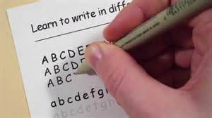 learn to write in different fonts comic sans