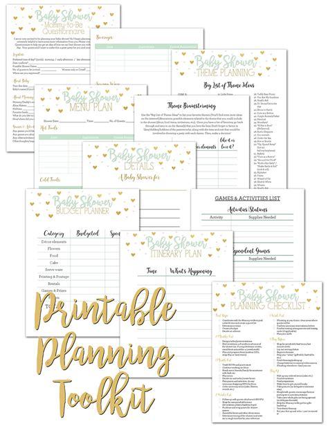Huggies Baby Shower Planner baby shower planner baby shower planning checklist pdf