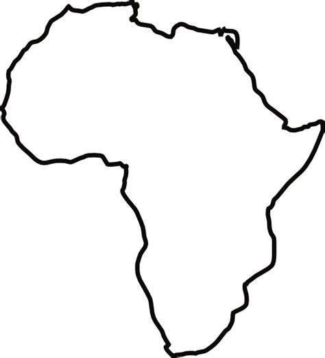 a sketch of africa map africa outline clip at clker vector clip