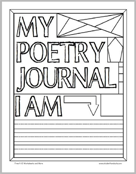 printable reading journal cover 384 best poetry unit images on pinterest guided reading